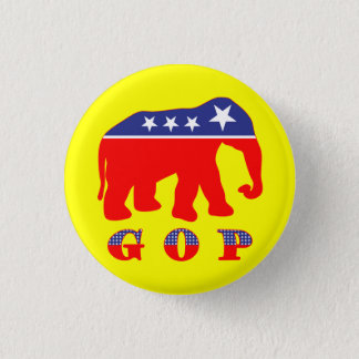 Modernisierter GOP-Elefant Runder Button 2,5 Cm