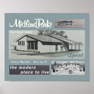 Modernist-Haus des Verkaufsschlager-1960 Poster