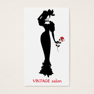 Modeschneider, Vintage Art der Damenschneiderin Visitenkarte