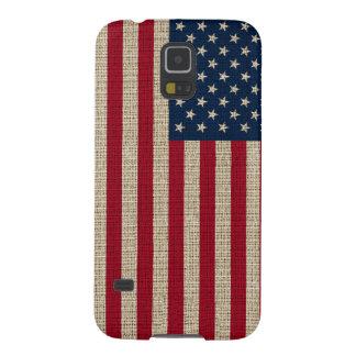 Modische Amerika-Flaggen-Leinwand-Beschaffenheit Galaxy S5 Hüllen