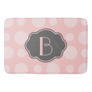 Modische Stellen, rosa u. grau, addieren Ihre Badematte