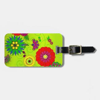 Modischer heller Blumendruck Gepäckanhänger