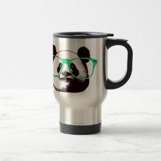 Modischer Panda-Bärn-Gesichts-Glas-Schnurrbart Reisebecher
