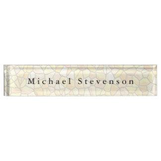 Modischer Steinwand-Entwurfs-einzigartiges Namensplakette