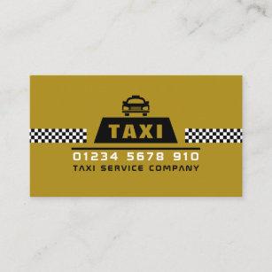 Modischer u. moderner Taxi-Fahrer Visitenkarte