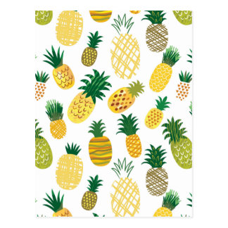 Modisches Ananas-Muster Postkarte