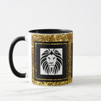Modisches hoch entwickeltes Löwe-Goldschwarzes u. Tasse