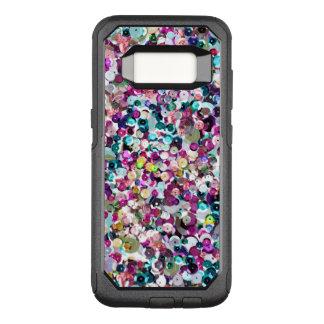 Modisches Regenbogen-Paillette-Muster OtterBox Commuter Samsung Galaxy S8 Hülle