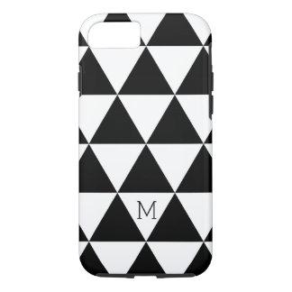 Modisches Schwarzweiss-Dreieck-Muster iPhone 8/7 Hülle