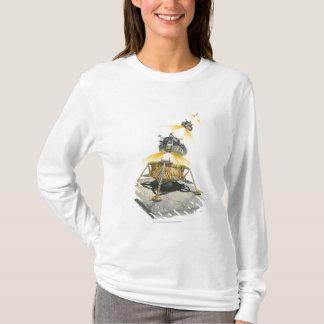 Modul Apollo 11 Eagle, das vom Mond sich entfernt T-Shirt