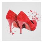 Modusart-Rotschuhe des Mode-Glamours trendy Poster