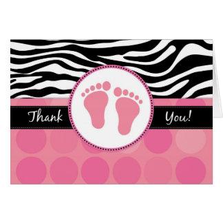 Modzebra-danken Druck gefaltete Baby-Dusche Ihnen Karte
