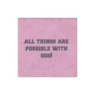 Möglich mit Gott Steinmagnet