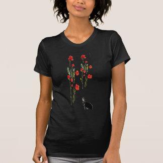 Mohnblumen-Blumen-Häschen-Kaninchen T-Shirt