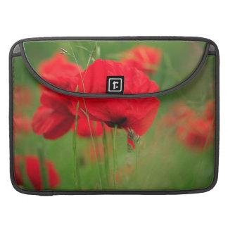 Mohnblumen-Feld Sleeve Für MacBooks