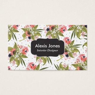 Mohnblumen-gemusterte Blumengeschäfts-Karte Visitenkarte