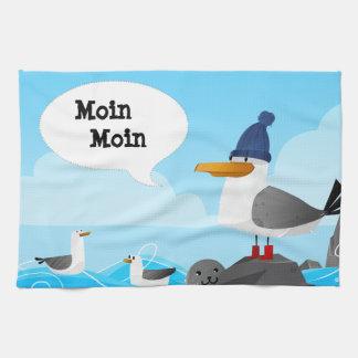 """""""Moin Moin"""" Seemöwe Geschirrtuch"""
