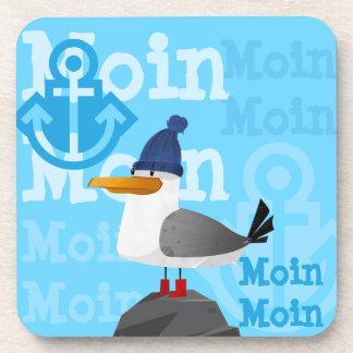 """""""Moin Moin"""" Seemöwe Getränkeuntersetzer"""