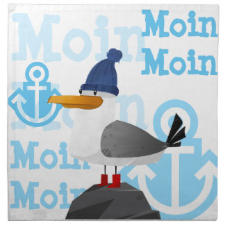 """""""Moin Moin"""" Seemöwe Serviette"""