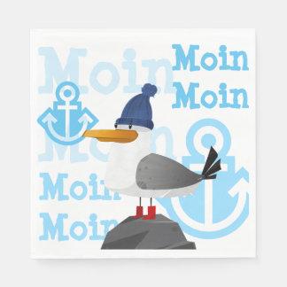 """""""Moin Moin"""" Seemöwe Servietten"""