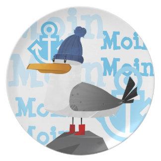 """""""Moin Moin"""" Seemöwe Teller"""