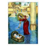 Moïse dans une carte de panier