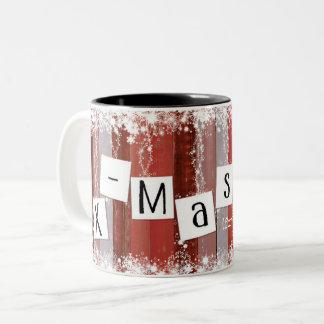 Mok kerst Hip en feestelijk Zweifarbige Tasse