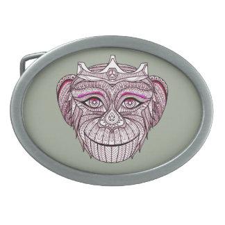 Mokeys Kopf 1 Ovale Gürtelschnallen