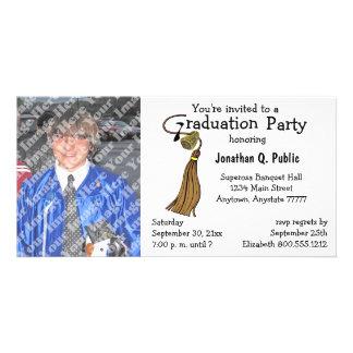 Mokka-Brown-Abschluss-Party-Foto-Einladung Bild Karte