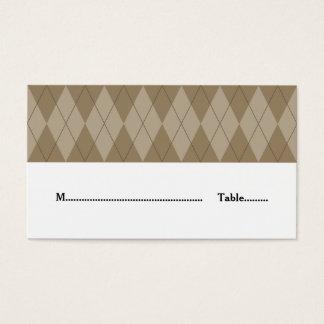 Mokka-Rauten-Hochzeits-Platzkarte Visitenkarte