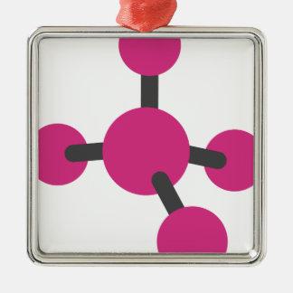 Molekül Silbernes Ornament