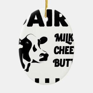 Molkerei frisch, Milchkäsebutter Ovales Keramik Ornament