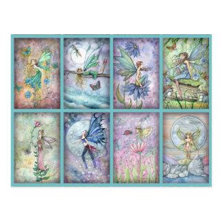 Molly-Harrison-Blumen-Fee-Postkarte Postkarte