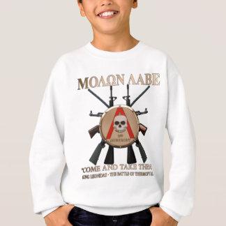 Molon Labe - spartanisches Schild Sweatshirt