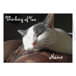 Momo Katzen-Gruß-Karten-kundengerechte Schablone Karte