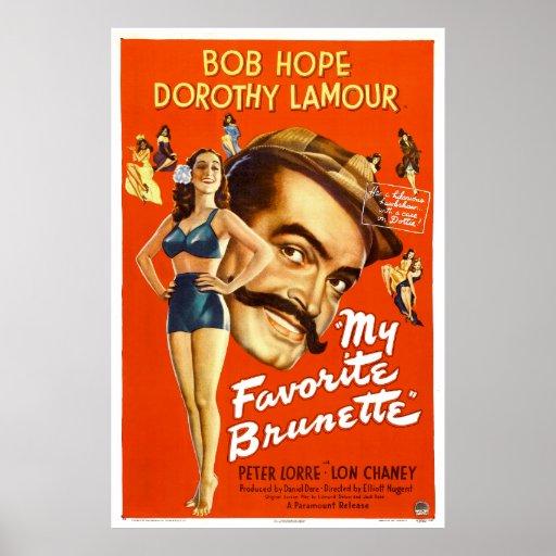 """""""Mon affiche de film vintage préférée de brune"""" -"""