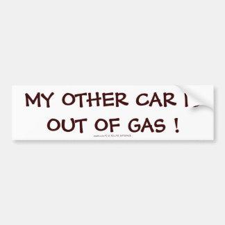 MON AUTRE VOITURE EST HORS DU GAZ ! AUTOCOLLANT POUR VOITURE