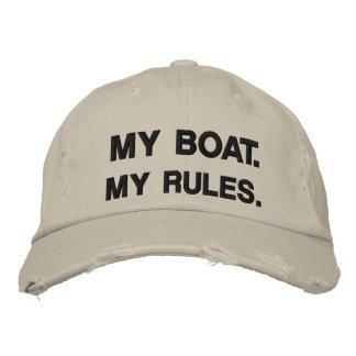 Mon bateau. Mes règles - canotage drôle Casquettes De Baseball Brodées