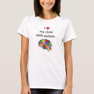 """""""Mon enfant avec le T-shirt d'autisme"""""""