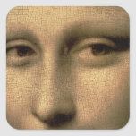 Mona Lisa, c.1503-6 Sticker Carré