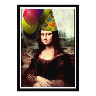 Mona Lisa - das Geburtstags-Mädchen Karte