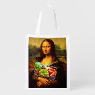 Mona Lisa Liebe-Gemüse Wiederverwendbare Einkaufstasche