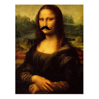 Mona Lisa mit dem Schnurrbart Postkarte