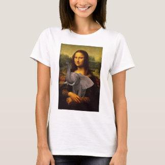 Mona Lisa mit Elefanten T-Shirt