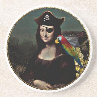 Mona Lisa Piraten-Kapitän Getränkeuntersetzer
