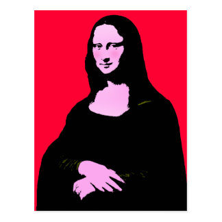 Mona Lisa Pop-Kunst-Art Postkarte
