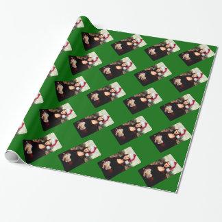 Mona Lisas WeihnachtsWeihnachtsmannmütze Geschenkpapier