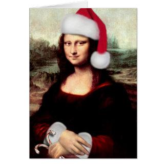 Mona Lisas WeihnachtsWeihnachtsmannmütze Karte