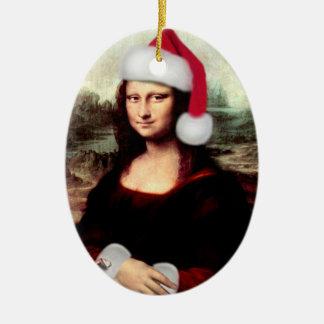 Mona Lisas WeihnachtsWeihnachtsmannmütze Keramik Ornament