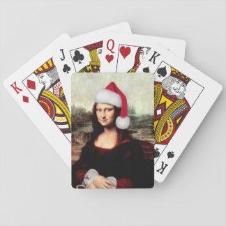 Mona Lisas WeihnachtsWeihnachtsmannmütze Spielkarten